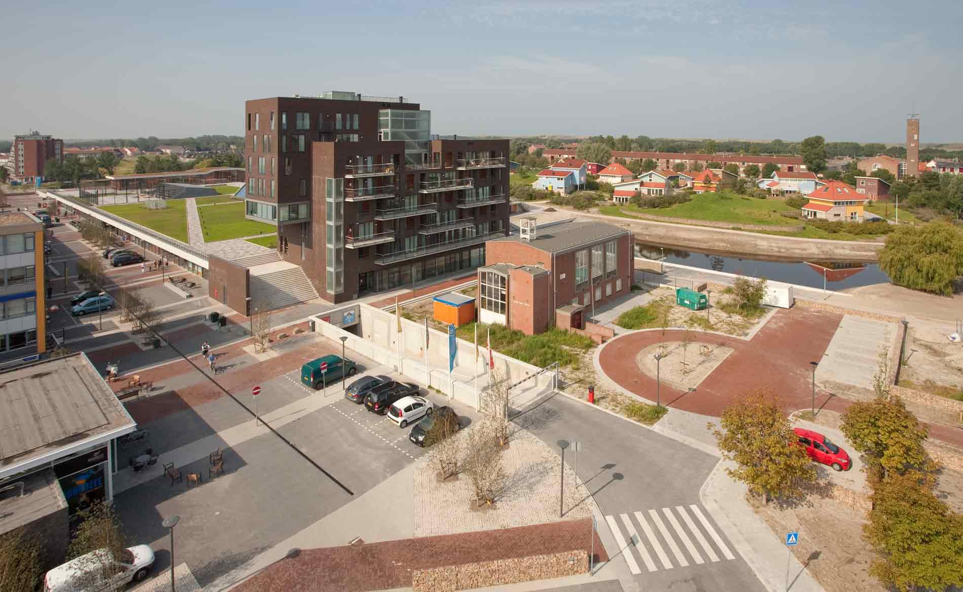architect Multifunctioneel Centrum MFC appartementen Duinpark Den Helder BBHD architecten