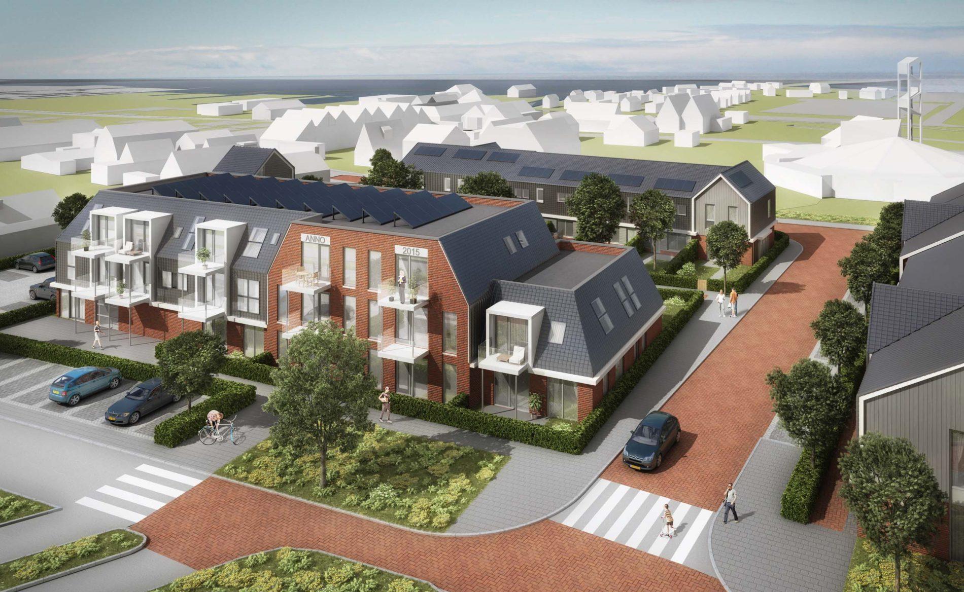 architect appartementen sociale huurwoningen herstructurering dorps bouwen Heer Derckplantsoen Akersloot BBHD architecten
