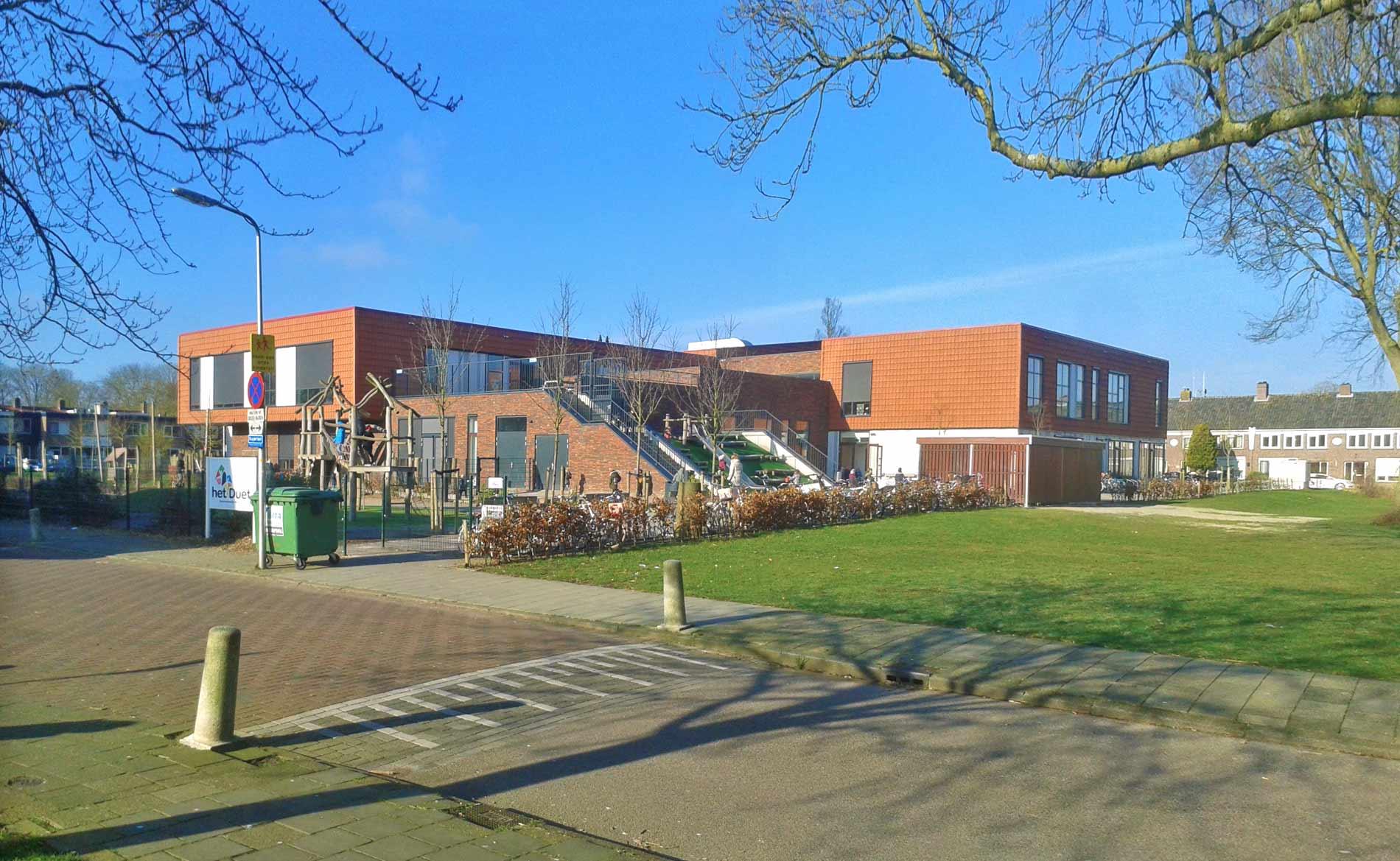 architect scholen basisonderwijs kinderdagveblijf BSO IKC Het Duet Uithoorn BBHD architecten Alkmaar