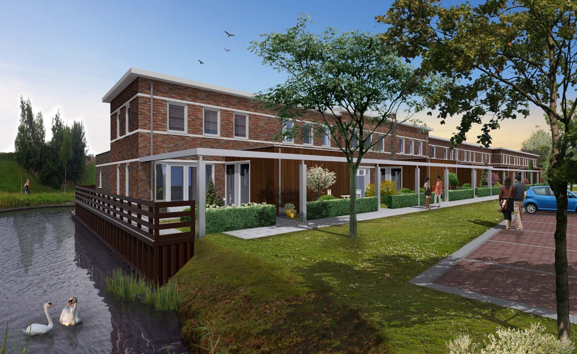 architect woningbouw sociale huurwoningen nieuwbouwwijk Reigersborg Hoogkarspel BBHD architecten