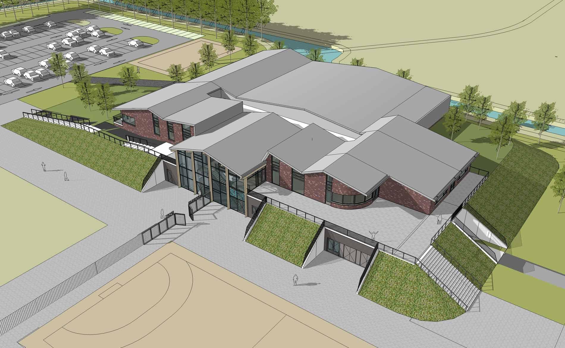 architect sporthal MFA multifunctionele accommodatie sport De Dres Nibbixwoud BBHD architecten