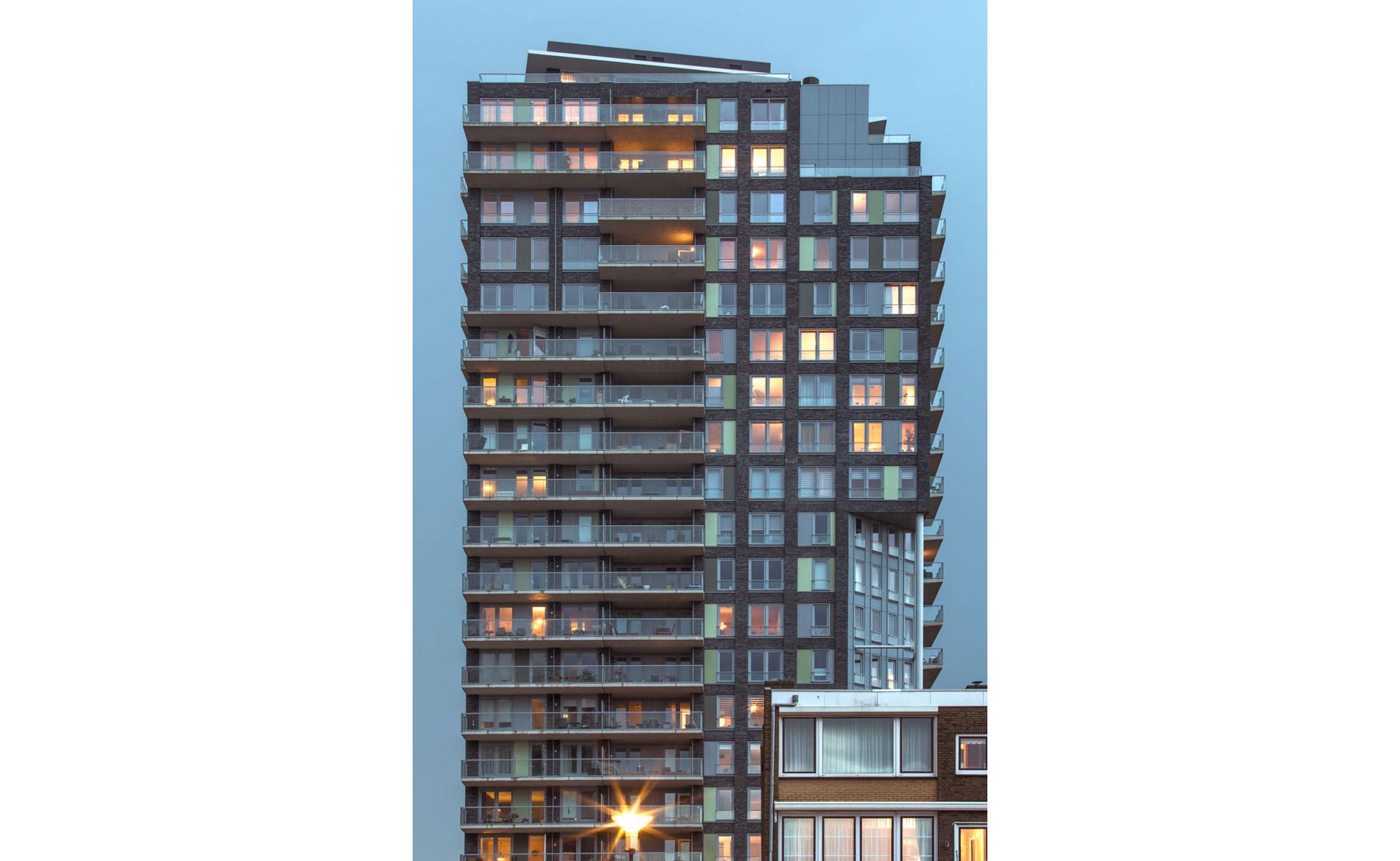 architect woningbouw appartementen hoogbouw woontoren herstructurering Wijkerbaan BBHD architecten