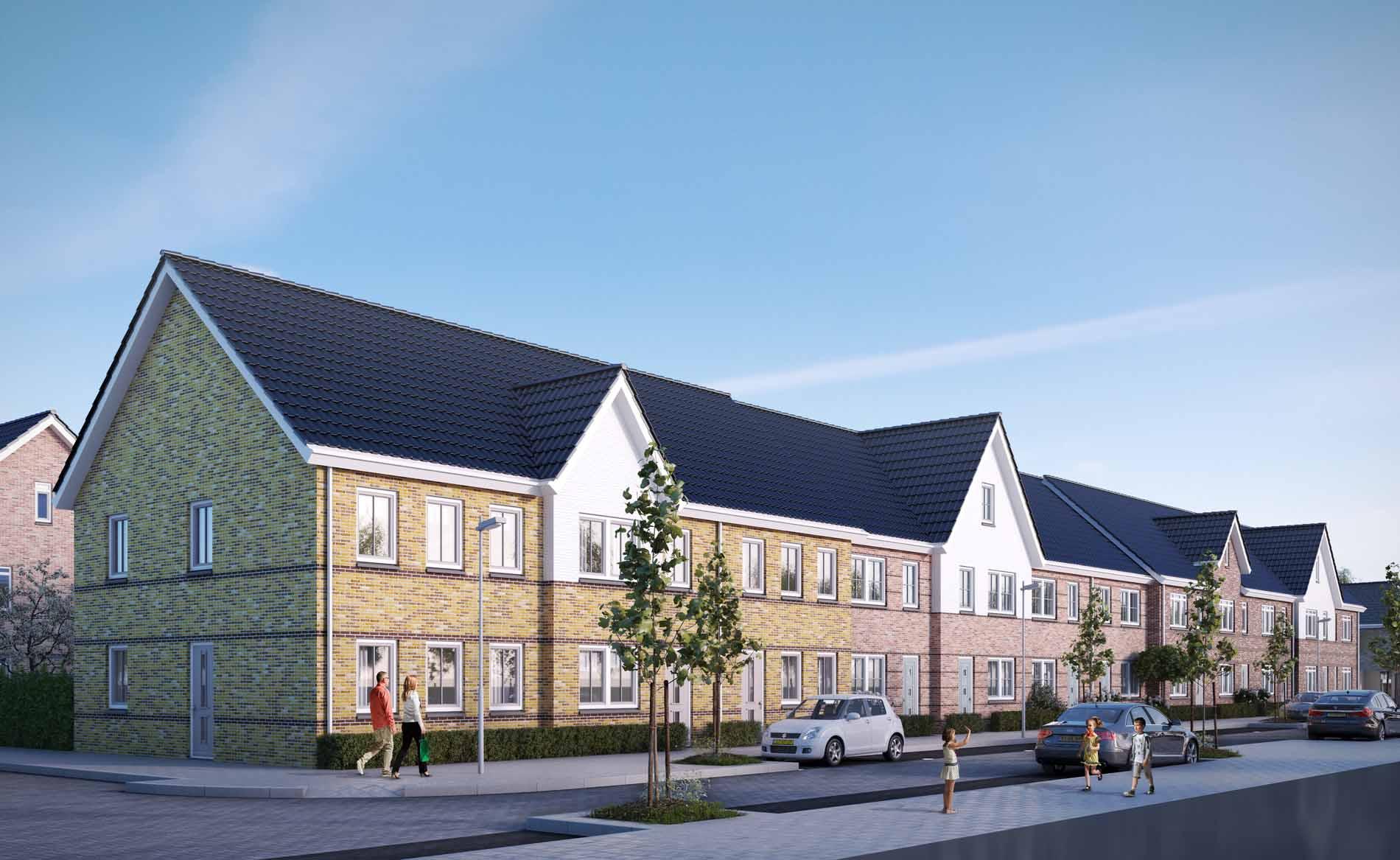 architect woningbouw woningen nieuwbouwwijk Hoge Weide Leidsche Rijn Utrecht BBHD architecten