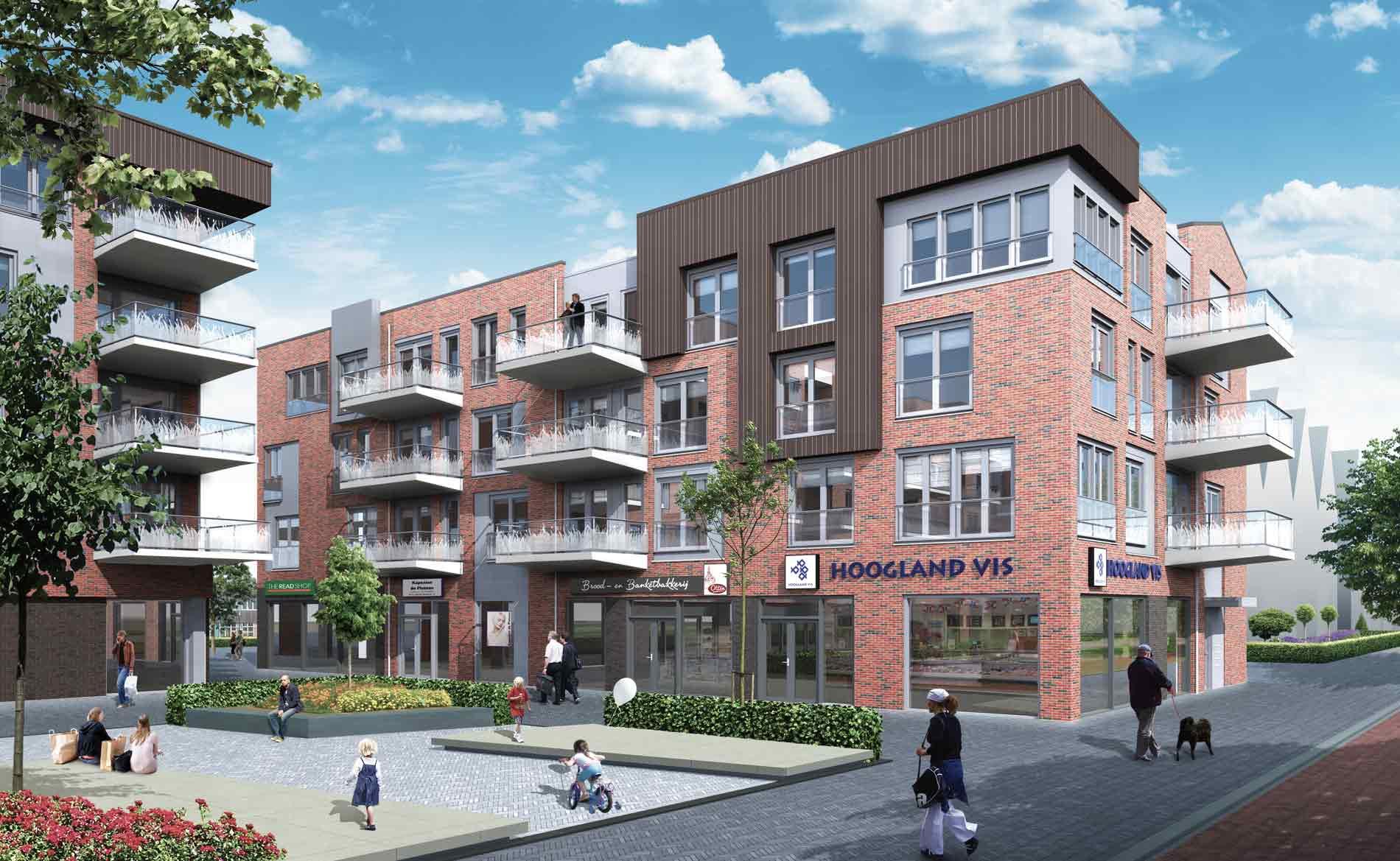 architect appartementen supermarkt Deen woningbouw Bangert Oosterpolder Zwaag Hoorn Grootslag BBHD architecten