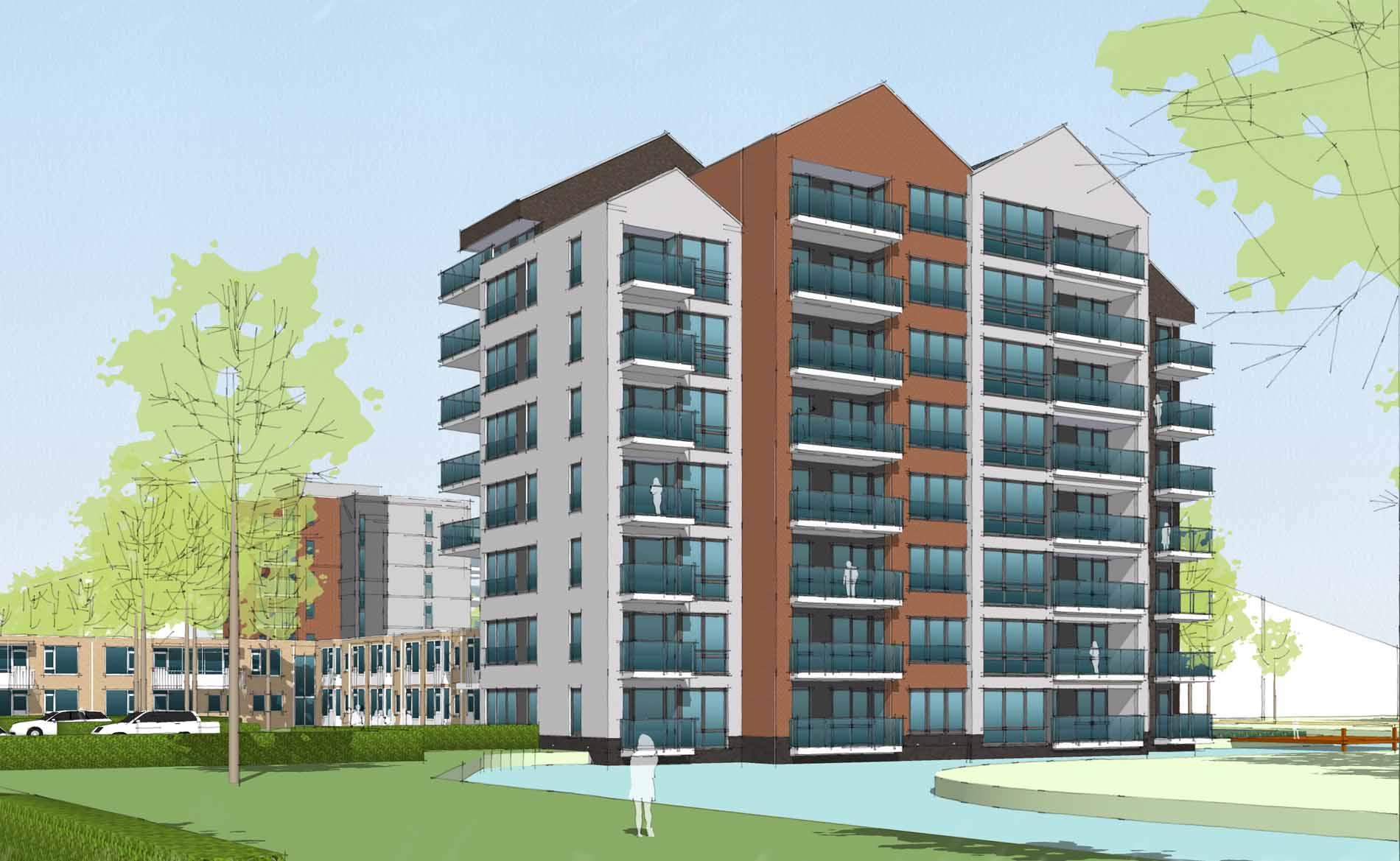 appartementen woonzorg Amandelbloesem Wormeveer BBHD architecten
