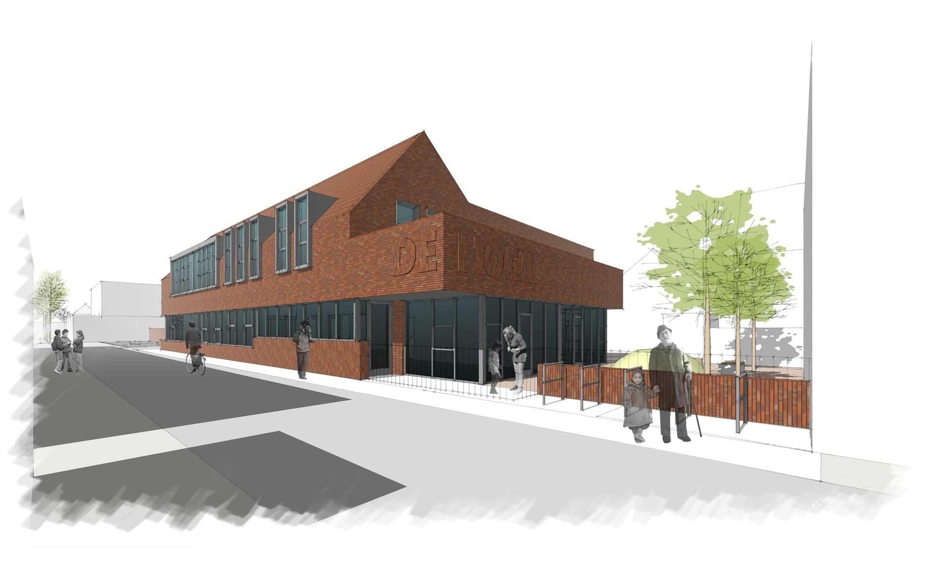 architect scholen onderwijs IKC basisschool Binnenstad Enkhuizen De Tweemaster BBHD architecten
