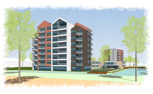 Amandelbloesem Wormerveer BBHD architecten senioren appartementen woningen woningbouw moderne architectuur woonzorg
