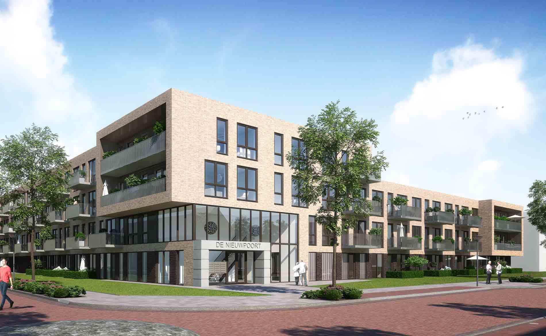 Alkmaar De Nieuwpoort appartementen BBHD architecten senioren woningen woningbouw huurwoningen woonzorg architectuur NOM-ready moderne architectuur