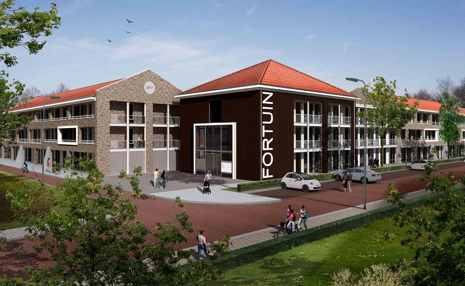 energieneutral NOM EPC=0 duurzaam appartementen Spatter- en Fortuinstraat Wormer BBHD architecten herstructurering landelijk architectuur dorps bouwen