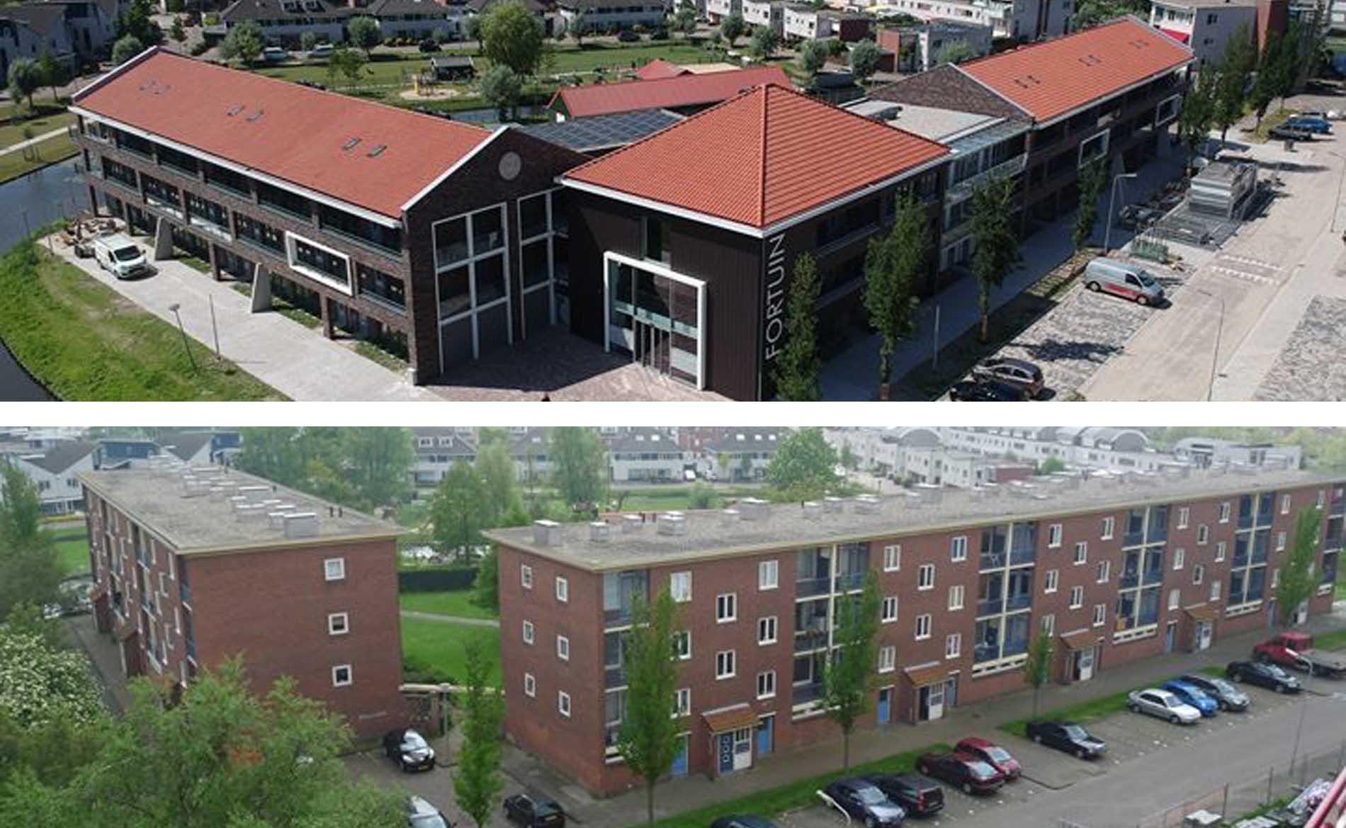 architect appartementen sociale woningbouw herstructurering Spatter- Fortuinstraat Wormer BBHD architecten