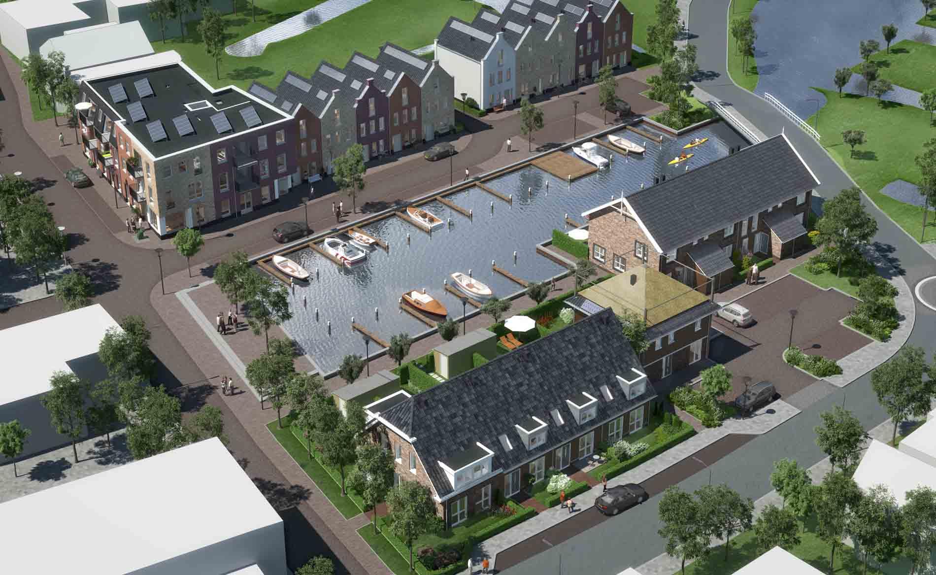 dorps bouwen landelijk wonen woningen woningbouw haven architect architectuur Dorpshart Leimuiden BBHD architecten