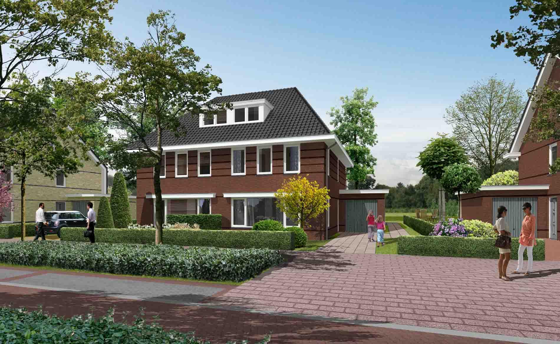 architect dorps wonen dorps bouwen woningbouw nieuwbouwwijk westerdel Langedijk BBHD architecten