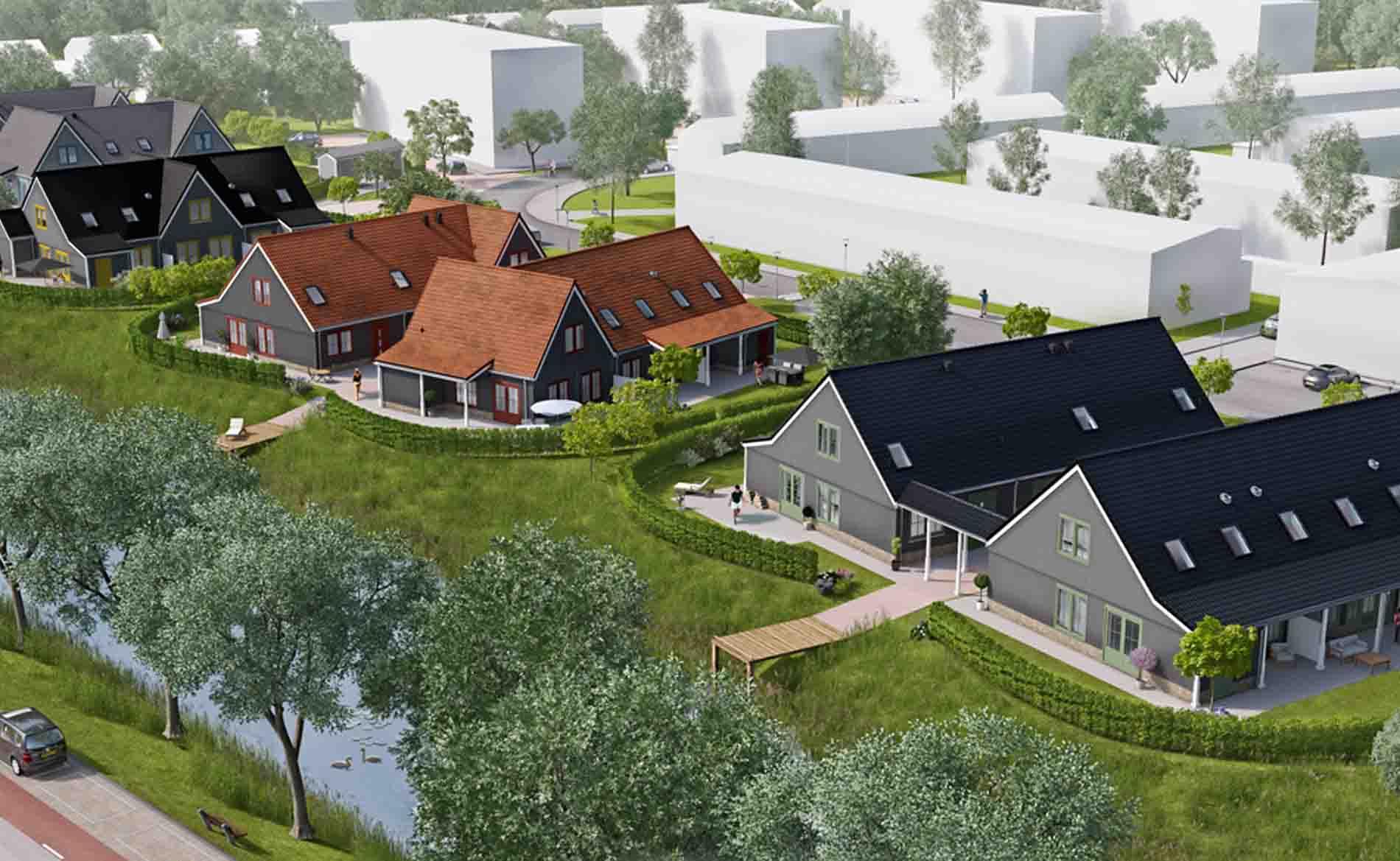 Levensloopbestendige woningen Vechtstraat Den Helder BBHD architecten