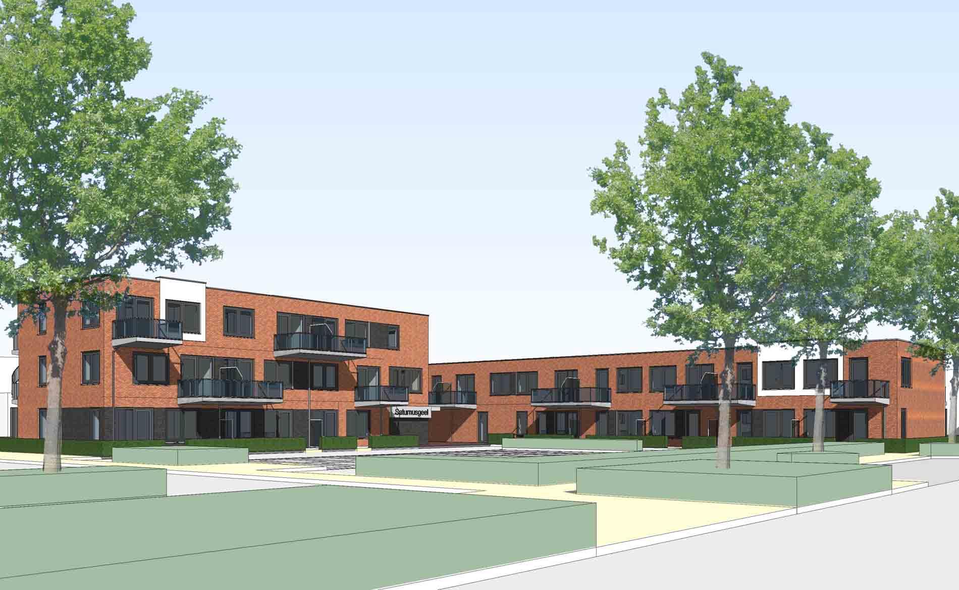 architect jongerenwoningen BENG appartementen sociale huurwoningen Saturnusgeel Zoetermeer BBHD architecten