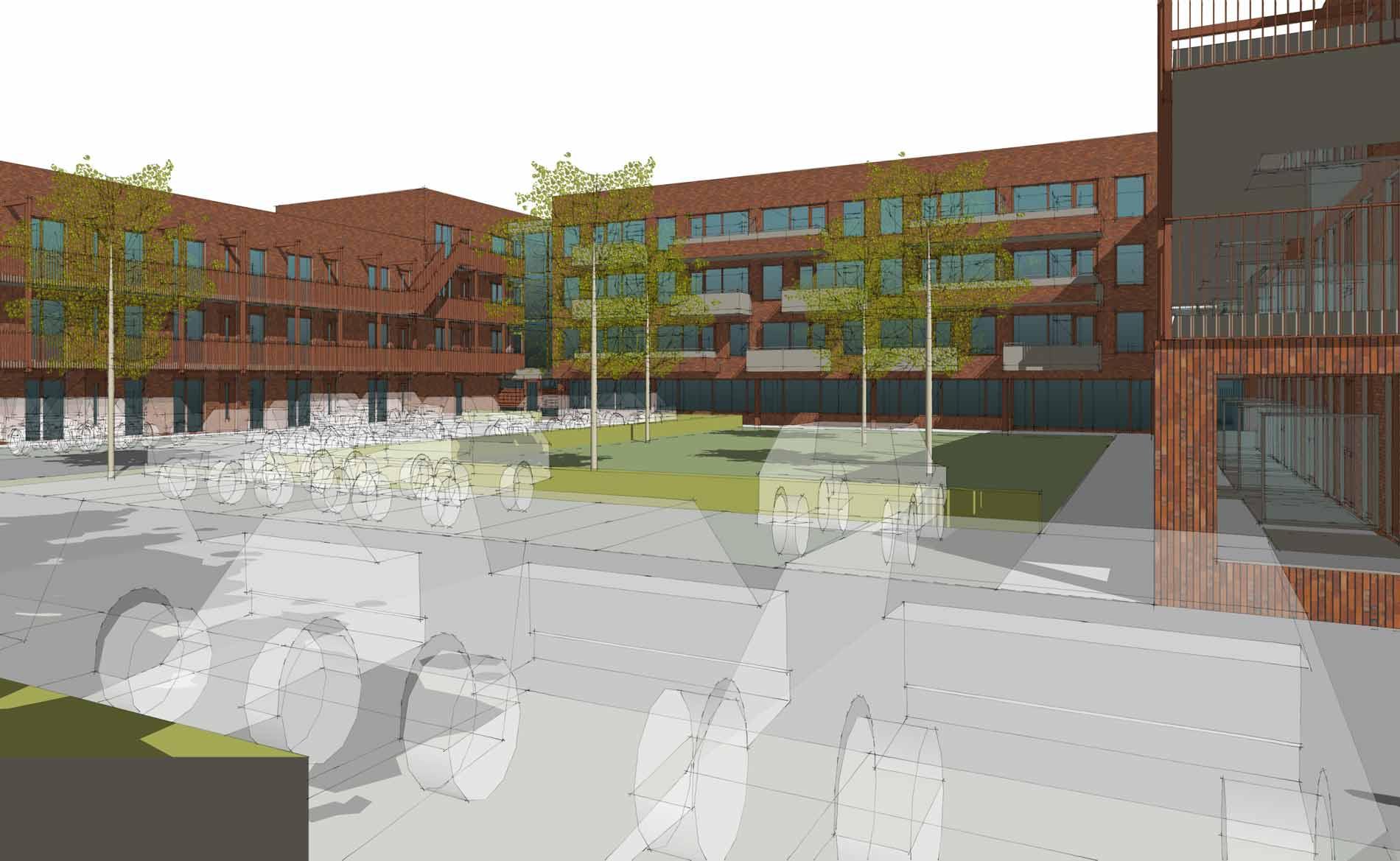 architect Appartementen sociale huurwoningen woningbouw Nieuwe Steen Hoorn Intermaris BBHD architecten