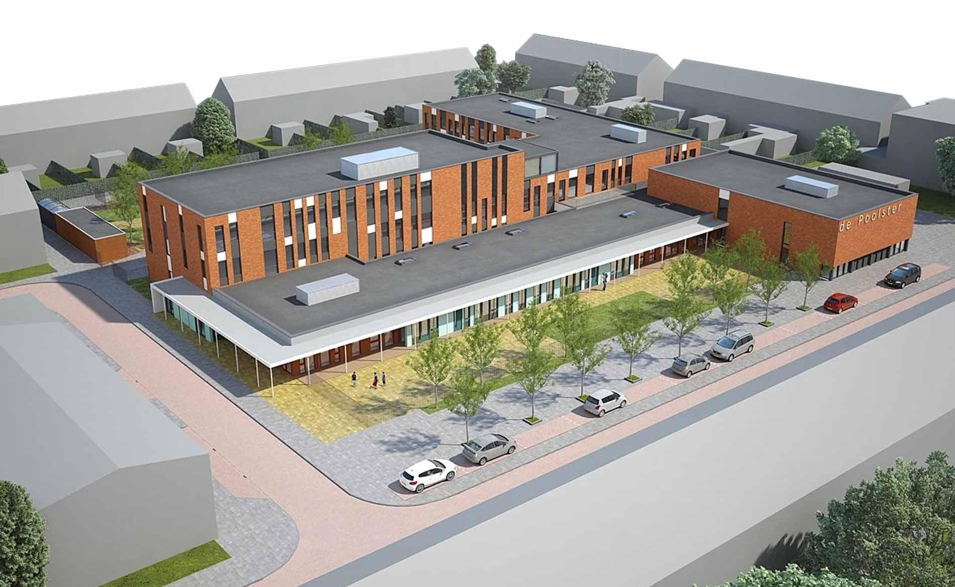 architect brede school kinderopvang BSO gymzaal De Poolster Den Helder BBHD architecten