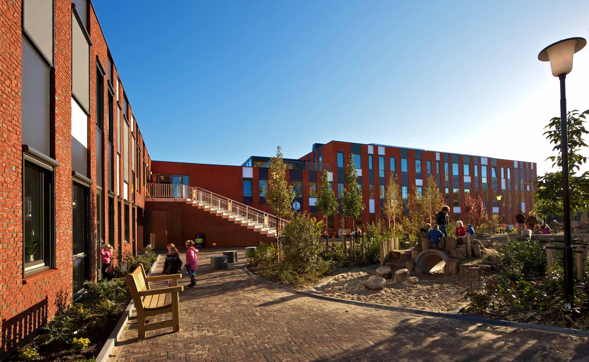 architect natuurlijk spelen brede school kinderopvang BSO gymzaal De Poolster Den Helder BBHD architecten