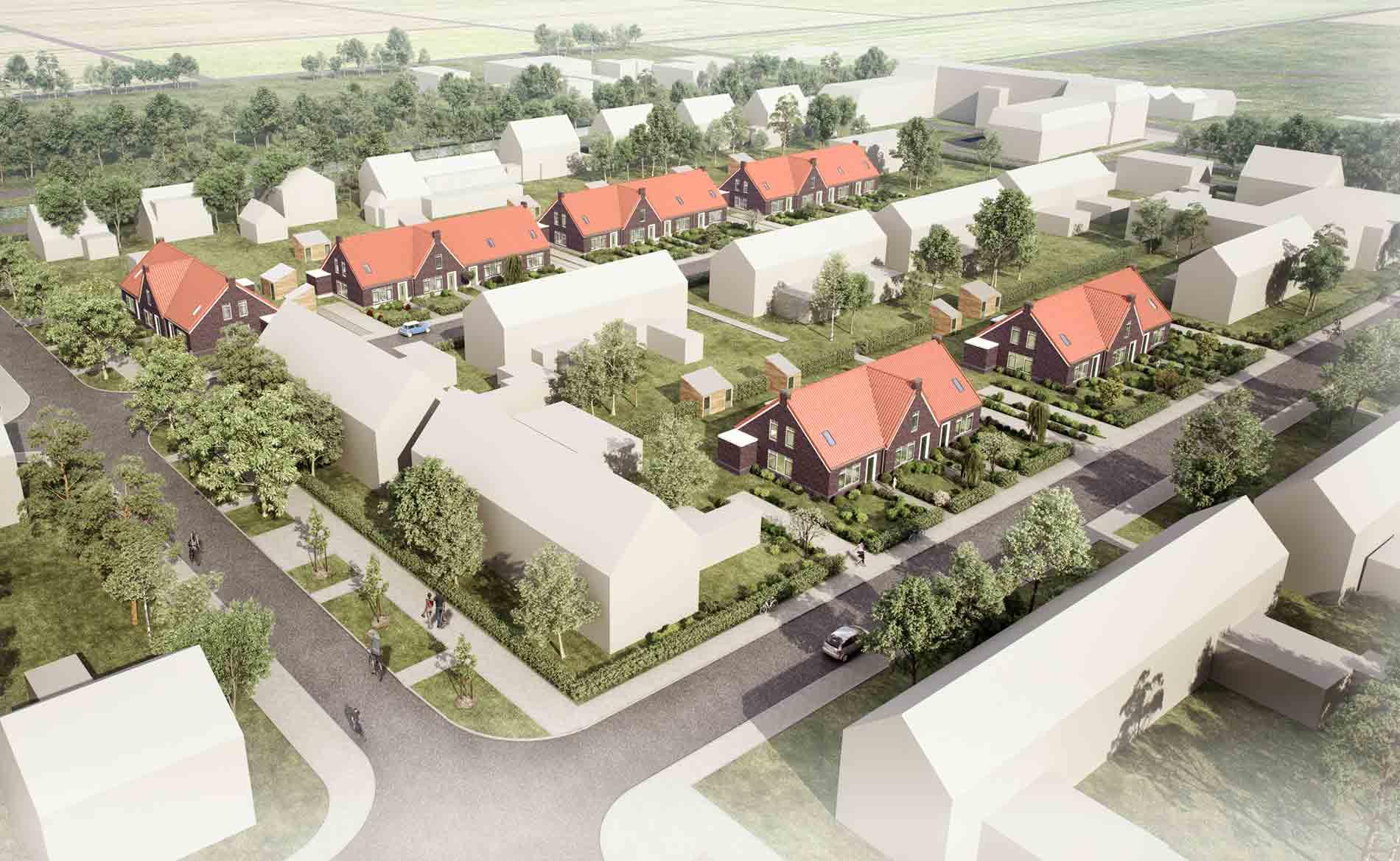 Levensloopbestendige woningen breezand bbhd architecten for Woningbouwvereniging anna paulowna