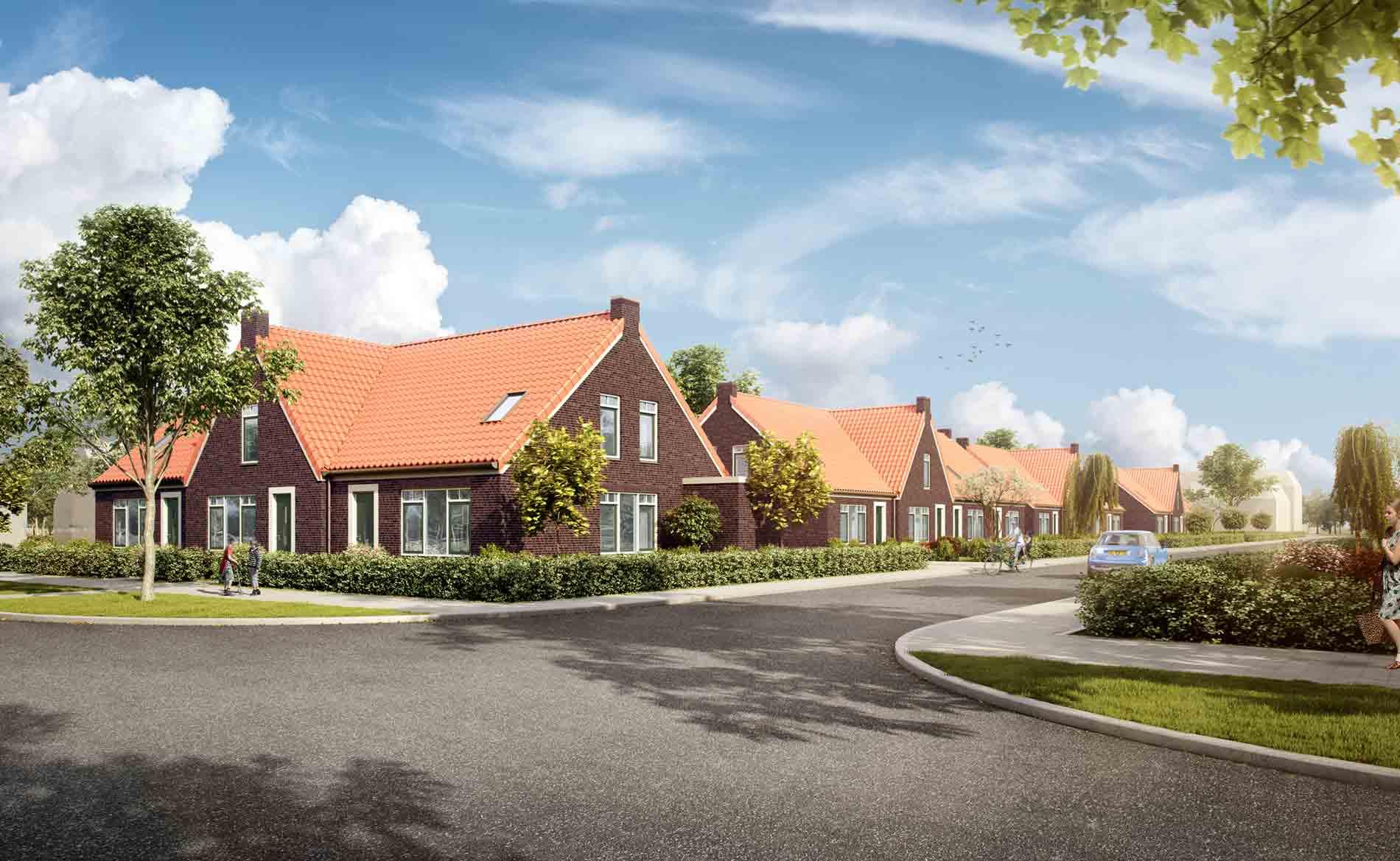 dorps levensloopbestendig rijwoningen Breezand BBHD architecten