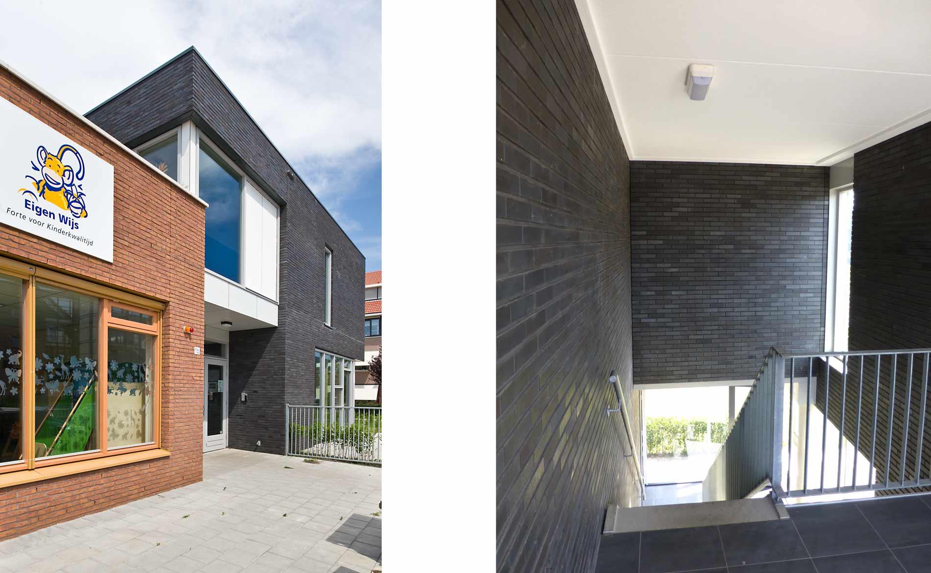 architect kinderopvang en appartementen kinderdagverblijf Eigen Wijs Limmen BBHD architecten