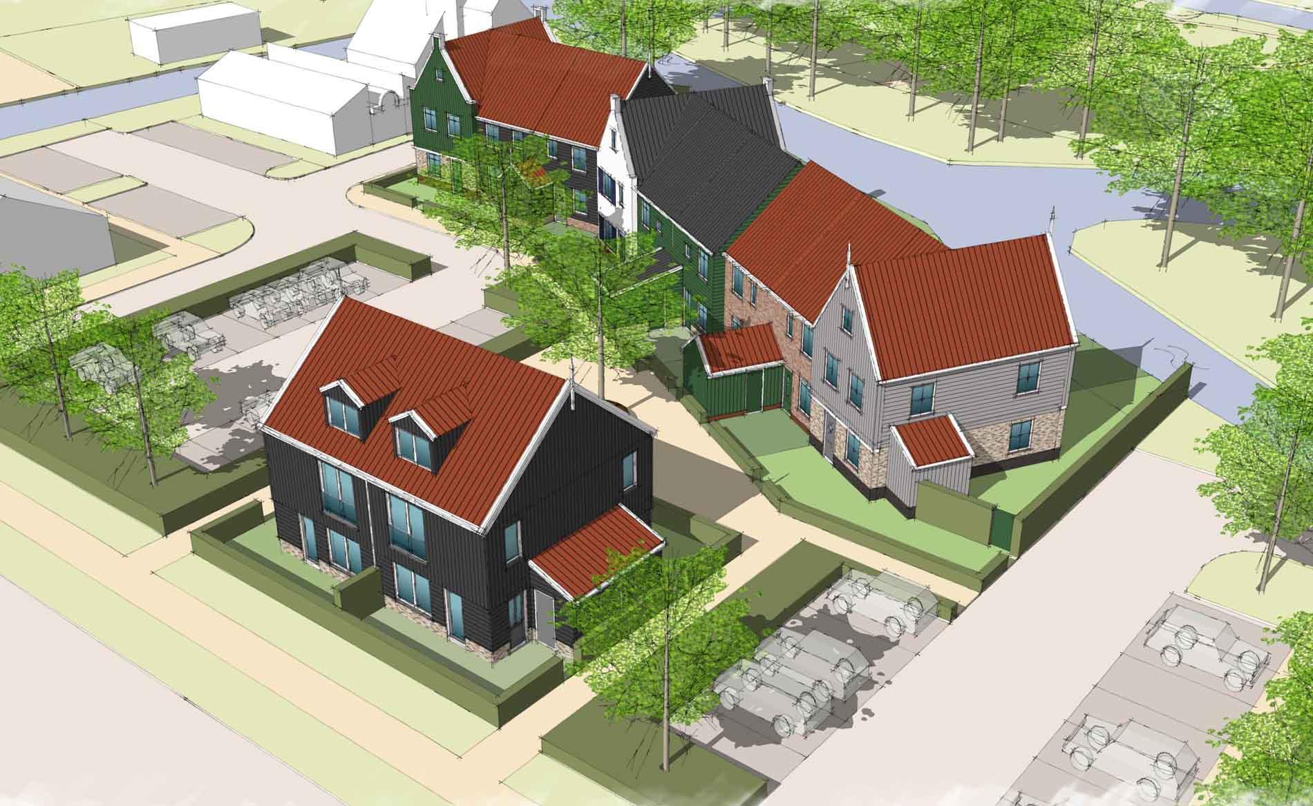 architect dorps wonen bouwen woningbouw Sloep De Rijp BBHD architecten