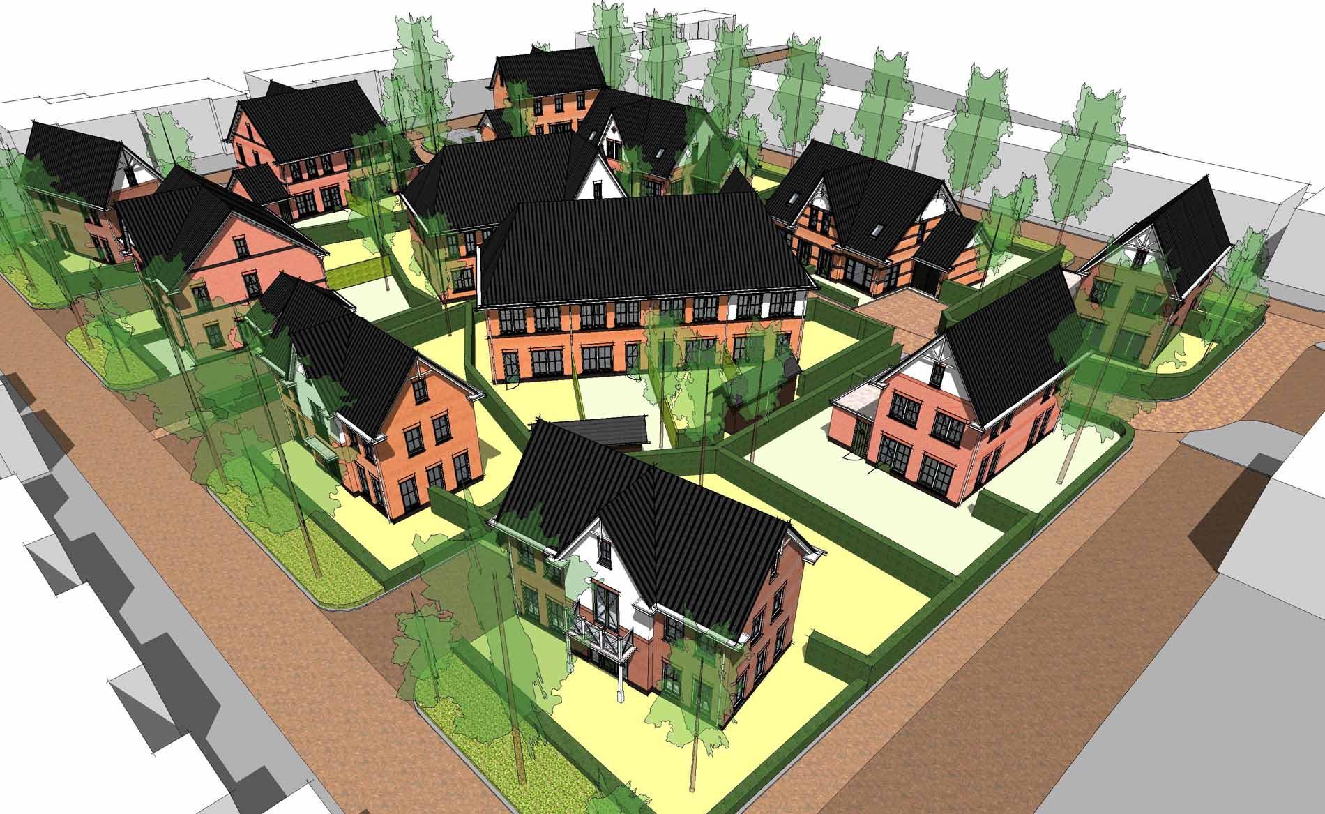 architect woningbouw herstructurering binnenstedelijk chaletstijl De Cuyp Enkhuizen BBHD architecten