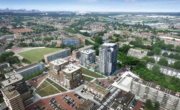architect hoogbouw woningbouw appartementen woonzorggebouw herstructurering parkeergarage De Wijkerbaan Beverwijk BBHD architecten