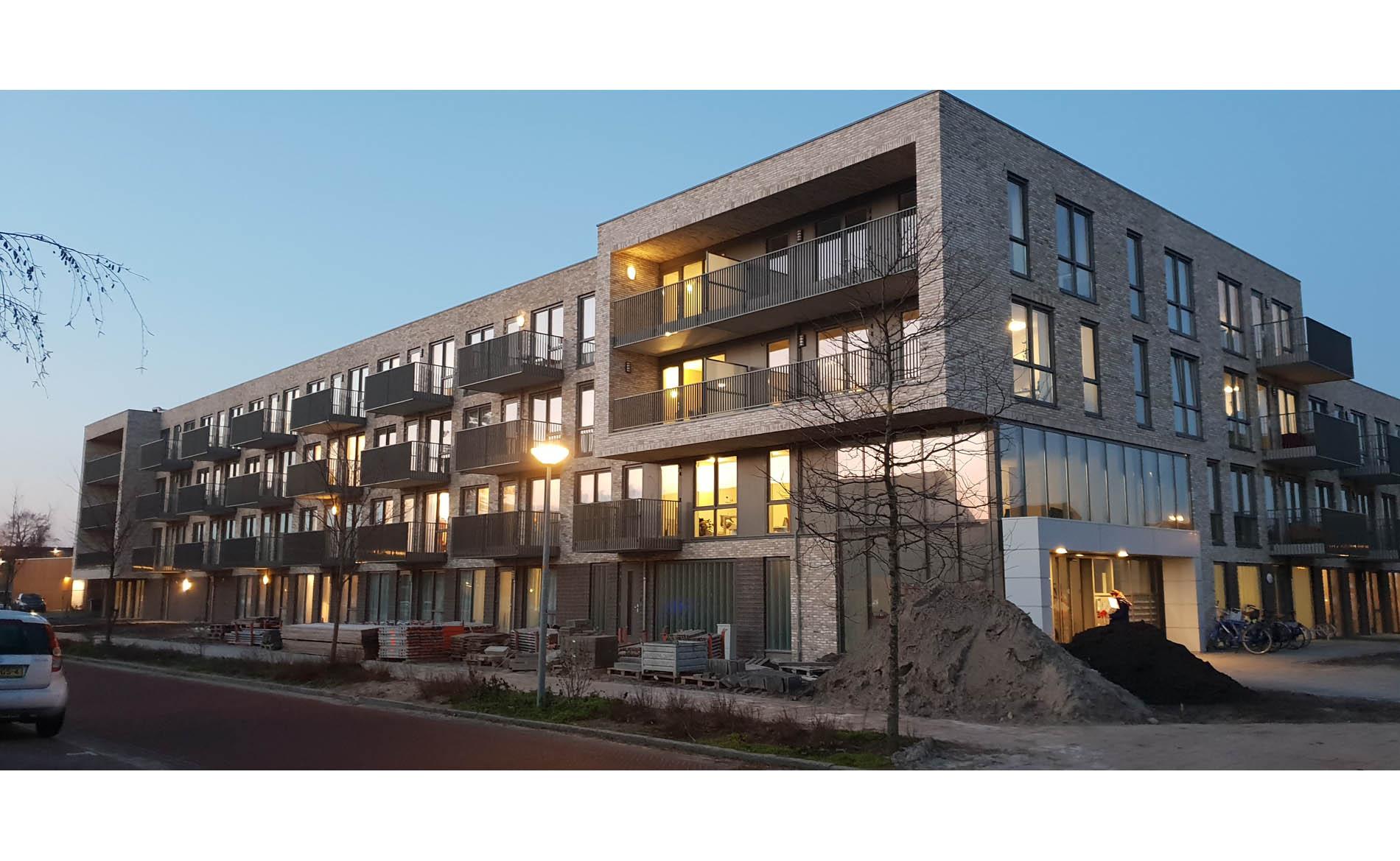 architect appartementen seniorenappartementen NOM-ready woonzorg De Kroon De Nieuwpoort Alkmaar BBHD architecten