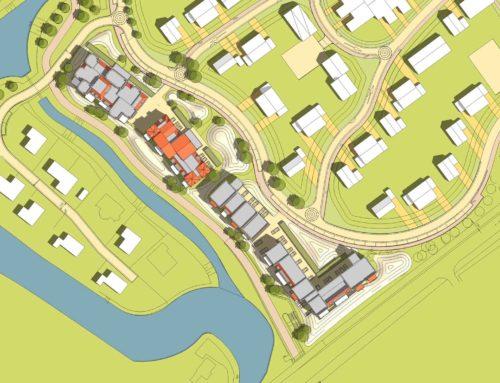 stedenbouwkundig ontwerp voor 4 appartementengebouwen in Duingeest Monster
