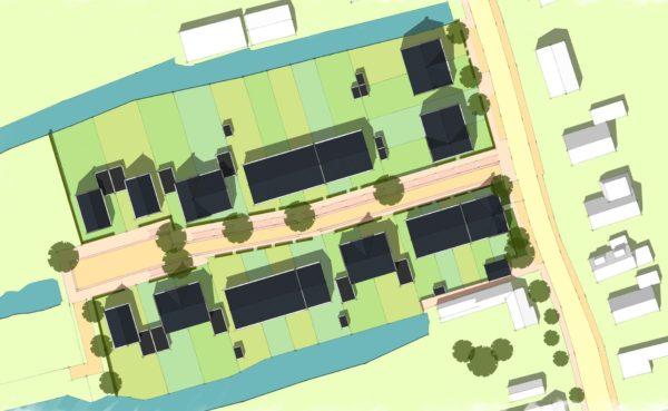 stedenbouw stedenbouwkundig plan ontwerp dorps wonen woningbouw Noordeinde Oostzaan BBHD architecten