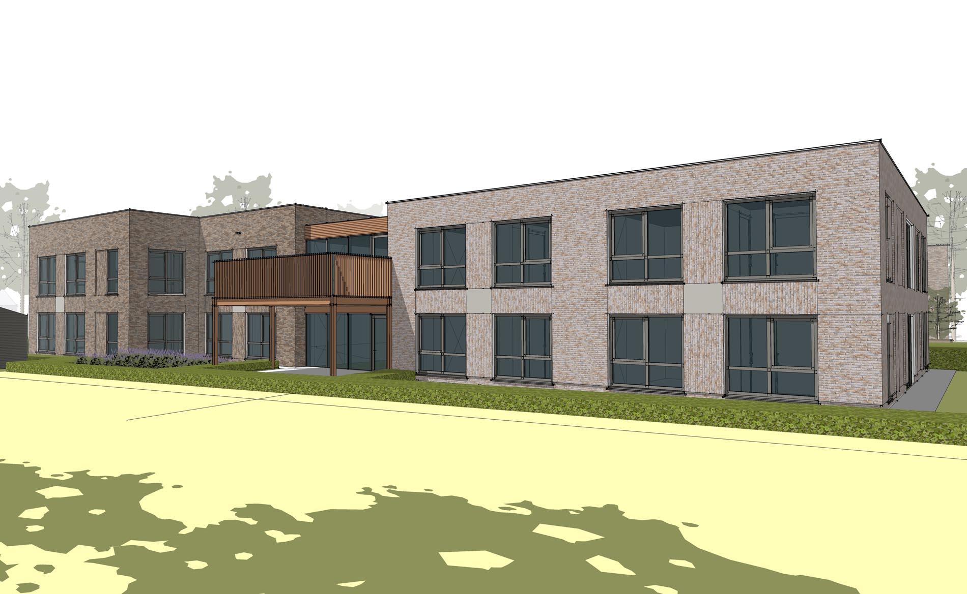 architect woonzorgcentrum woonzorggebouw Sorgvliet Andijk bescherm wonen seniorenappartementen zorg BBHD architecten