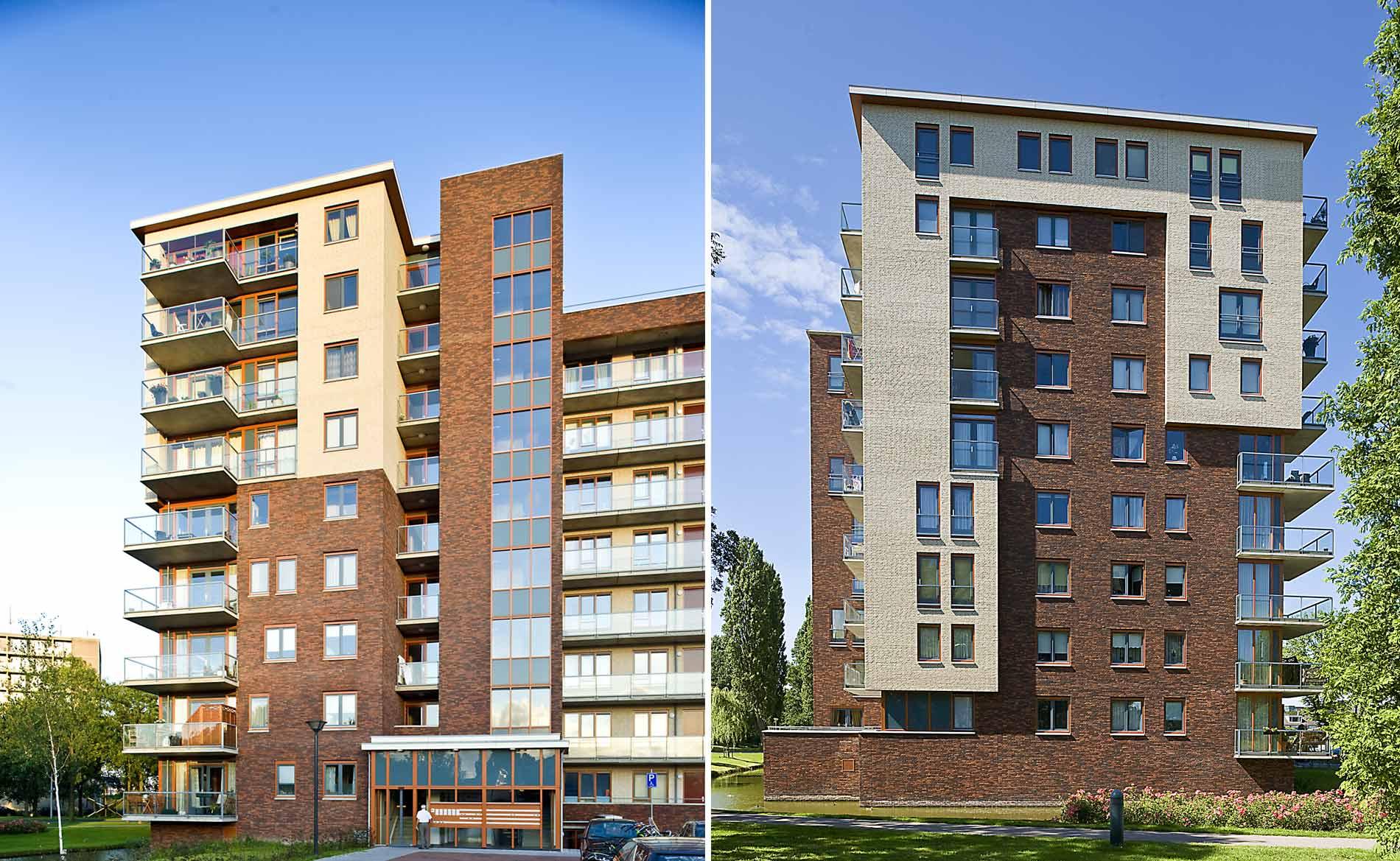 stadsvernieuwing herstructurering Heemskerk Waterrijck appartementen woningen park BBHD architecten