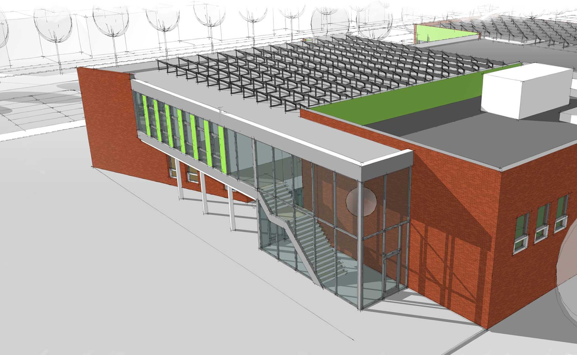 architect school basisschool Panta Rhei Zeewolde BBHD architecten Brede school uitbreiding interieur