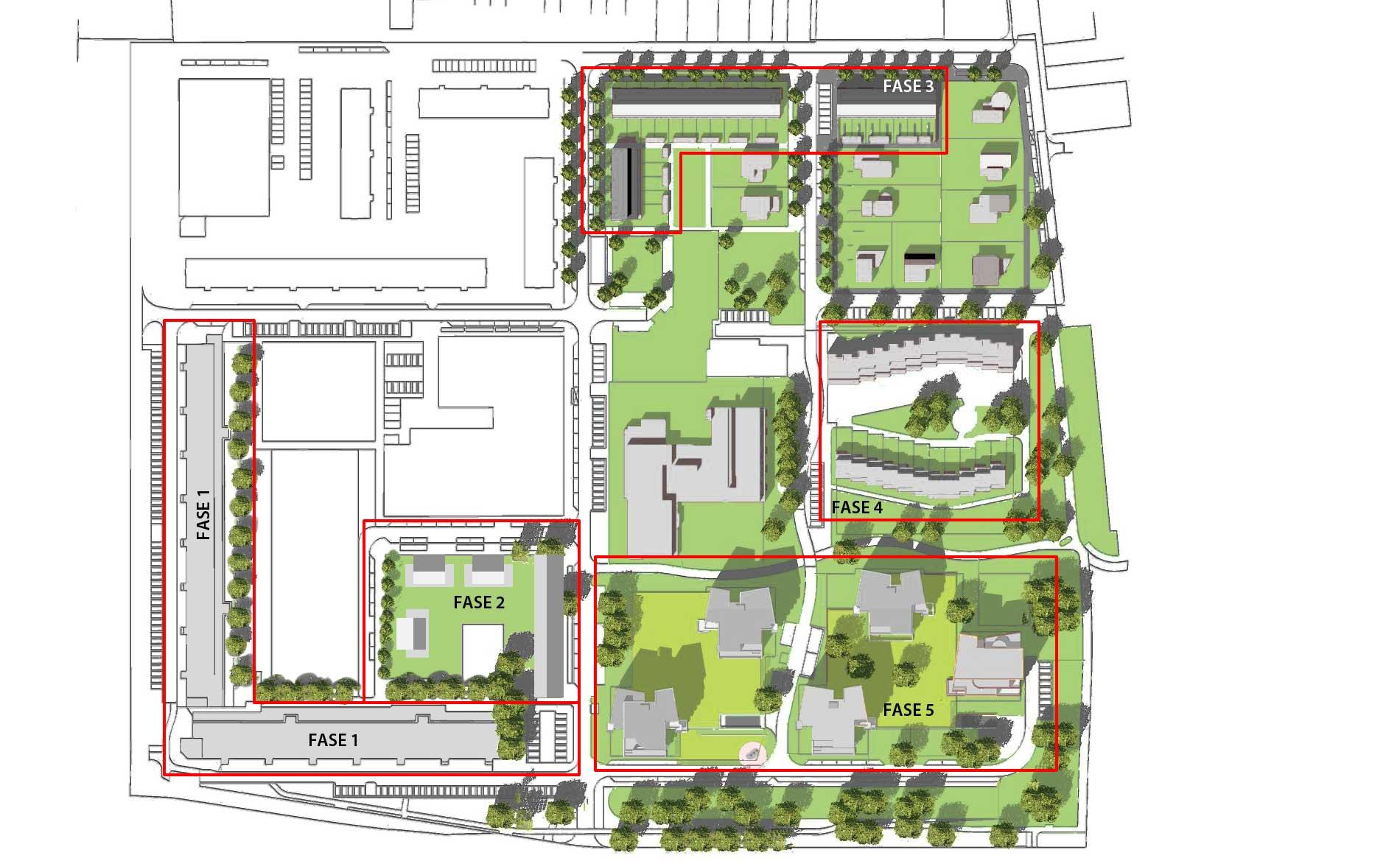 Meerestein Beverwijk stedenbouw herstructurering stadsvernieuwing architectuur appartementen eengezinswoningen BBHD architecten