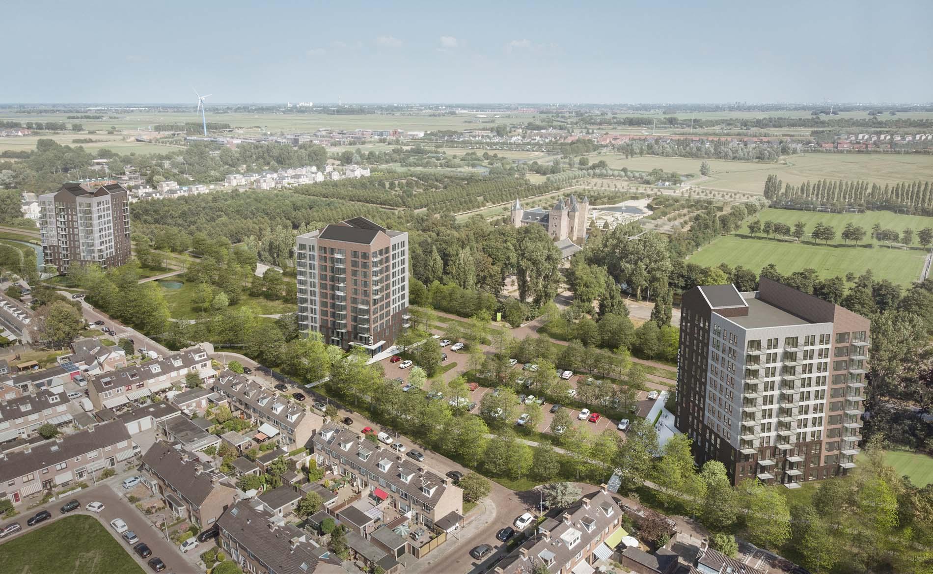 architect appartementen appartementengebouw architectuur sociale woningbouw huurwoningen Slotvrouwe Heemskerk BBHD