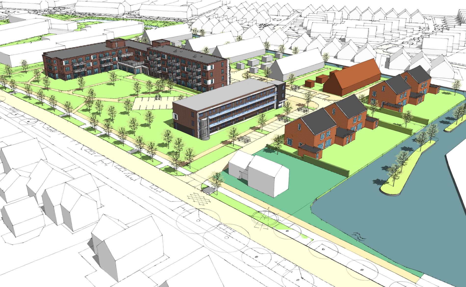 architect woningen woningbouw sociale huurwoningen 2-onde-1-kapwoningen appartementen Gerard Douplantsoen Heerhugowaard BBHD architecten architectuur