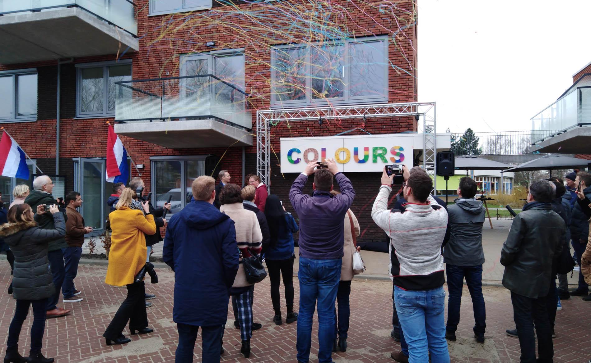 architect jongerenwoningen Colours Saturnusgeel Zoetermeer