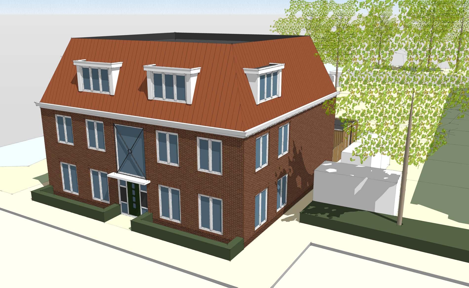 architectuur woningbouw sociale huurwoningen appartementen Spatterstraat Wormer BBHD architecten