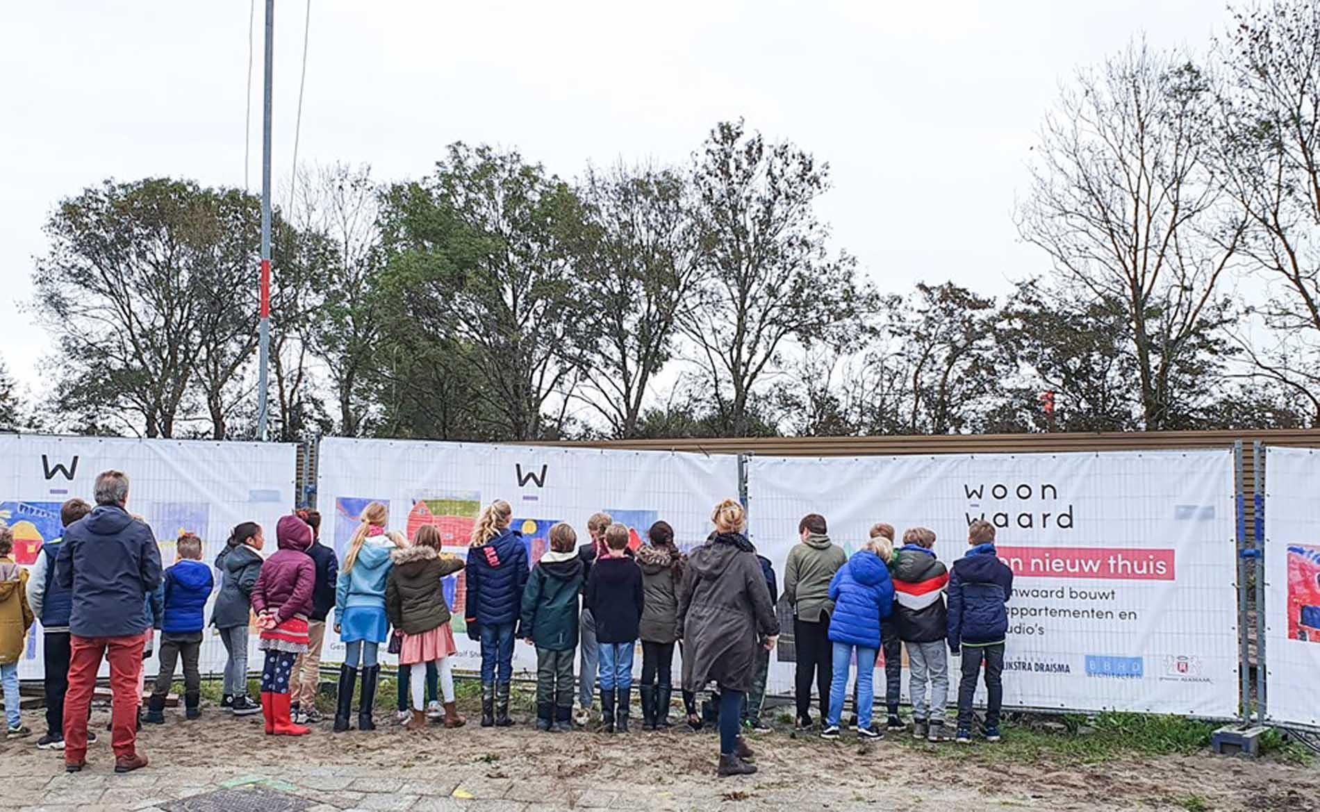 1ste paal Sperwerstraat Alkmaar